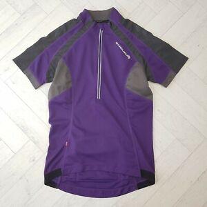 Endura Women's Hummvee Purple Short Sleeve Cycling Jersey Top Size XS