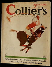 Collier's Magazine August 31 1935 FLORENCE MCGEE - GEORGE KAJAC - TAXES