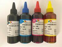 4X100ml UNIVERSAL refill refillable INK BOTTLES kit for HP Lexmark Dell Canon