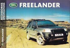 Land Rover Freelander Accessories Specifications 1999-2000 UK Market Brochure