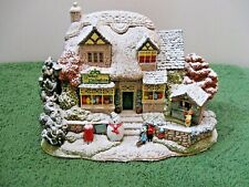 """Lilliput Lane Snowed """"Christmas Lights At Sweet Delights"""" L2556 Mib with deed."""