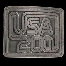 Vintage Ee.uu. 200 Bicentennial Spirit Of 1776 Americano Revolution Vaquero Belt