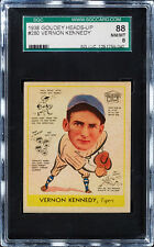1938 Goudey #280 Vernon (Vern) Kennedy SGC 88 NM/MT 8, Tigers,  POP 2,  1 Higher
