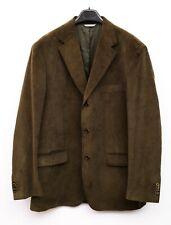 Barneys New York Piattelli Homme Velours Blazer UK 42R Cordons Veste Verte