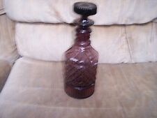 Vintage---PURPLE/AMETHYST GLASS---DIAMOND POINT PATTERN---Decanter with Stopper
