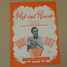 accordion POET and PEASANT Overture, F. von Suppe, Adrian Dante, 1943