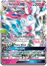 Pokemon Card: SYLVEON GX 92/145 Guardians Rising Holo Ultra Rare NM