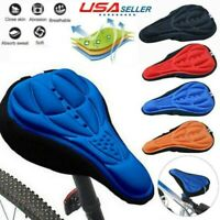 Bike 3D Saddle Seat Cover Bicycle Soft Comfortable Pad Padded Cushion USA