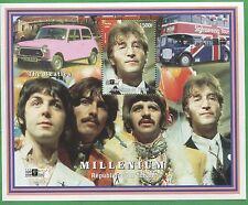 The Beatles Millenium Commemorative African Souvenir Stamp Sheet Chad E75