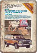 """Jeep Wagoneer Commando Cherokee Manual Cover 10""""x7"""" Reproduction Metal Sign A97"""