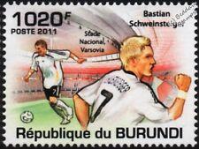 Bastian Schweinsteiger (Alemania) sello de fútbol (estadio de Varsovia) (2011)