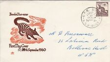 Afd2151) Australia 1960 Fdc Royal, Banded Ant Eater, orange & brown cachet, addr