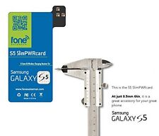 0.5mm S5 SlimPWRcard Qi Wireless Receiver Card for Galaxy S5 NFC & S-View