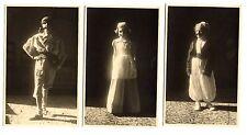 Enfants déguisés déguisement - lot 3 photos anciennes an. 1950
