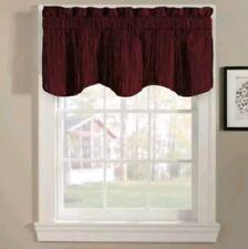 Valance Curtain Window Rod Pocket Panel CHF Scalloped Valance Taffeta 48x18 Red