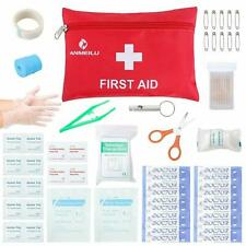 76 Piece Small Travel First Aid Kit Essential for Emergency & Medical Supplies