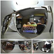 CLASSIC VINTAGE RETRO Style SUN GLASSES SHADES Silver Frame Chrome Mirror Lens
