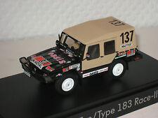 VW Iltis Type 183 Race #137 schwarz neu &  OVP 183.099.300.K1W