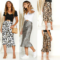 00c1d7a6808e Women Long Skirt Leopard Print High Waist Lady Sexy Holliday Bodycon Club  Dress