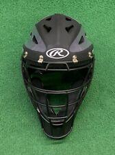 Rawlings Youth Velo Baseball Softball Catchers Mask Helmet - Black Grey