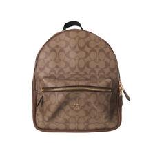 Coach F32200 32200 Medium Charlie Backpack In Signature Authentic Khaki Poppy