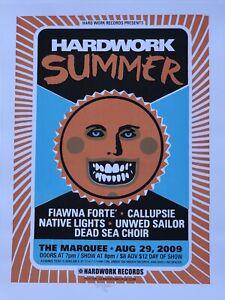 "Hard Work Summer Show Poster - Denny Schmickle- 18x24"" Hand Screened TULSA"
