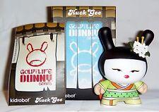 "Kidrobot HUCK GEE Gold Life Dunny Geisha Limon Green Lime Lemon KR 3"" Vinyl Fig"