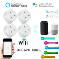 1/4Pack Smart Power Socket Wifi Wireless Mini Switch Remote Control Timer Outlet
