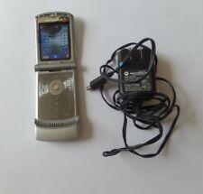 Motorola Razr V3 - Silver (Cingular/Att) Cellular Flip Phone Tested & Working