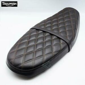 Saddle Comfort Quilted Brown Original A9700629 TRIUMPH Speed Twin