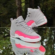 Nike Air Jordan 12 Retro Size 5Y Wolf Grey Racer Pink 510815-060