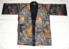 Japanese Kimono Robe Jacket Unisex sz 36 Metallic Jacquard Design No Sash Belt