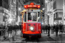 BEAUTIFUL ISTANBUL TRAM CANVAS PICTURE #547 STUNNING LANDSCAPE CANVAS FREE P&P