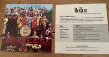 Beatles Sergeant Pepper promotional flyer would look great framed