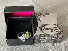 Mickey Mouse Birthstone Ring - Silvertone-August (Peridot Color) NIB Avon