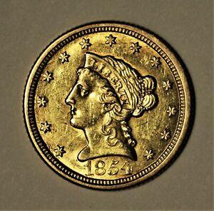 1854-O $2.5 Gold Quarter Eagle XF+  No Reserve