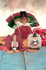 #2700 Turkey trio cloth doll patterns by Bonnie B Buttons - 3 sizes included