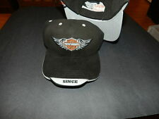 Motor Harley Davidson cycles with wings crest hat Black & Gray SINCE 1903 NEW