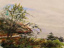Sale ORIGINAL Sea Land Watercolor Painting JMW art John Williams Expressionism