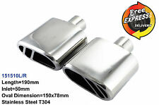 Exhaust tips Tailpipe trims for Renault Nissan Citroen VW Volvo Audi BMW KIA MG