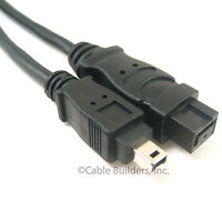 6FT FIREWIRE CABLE 9 PIN to 4 PIN IEEE1394B 6' 800 TO 400 6 FT 9P-4P 9-4 1394A-B