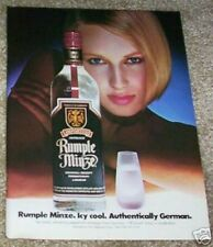 1985 ad page - Rumple Minze peppermint schnapps -Sexy Girl - vintage advertising