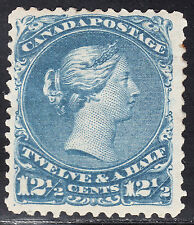 Canada 12 1/2c Large Queen, Scott 28, F-VF MOG, catalogue - $1,750