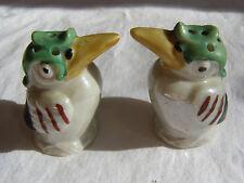 Vintage German porcelain Parrot Tucan bird salt and pepper shaker #8017