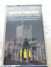 CAROLS BY CANDLELIGHT THE CHAPTER HOUSE CHOIR - 1979 AUDIO CASSETTE PAPER LABEL