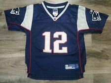 Tom Brady New England Patriots NFL Reebok Apparel Jersey #12 Youth Sz Large Blue