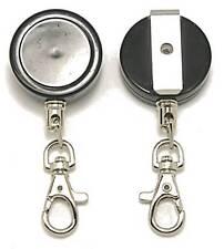 Kr_key02_sh chiave retrattile Reel Inc clip da cintura, Cavo in Acciaio Inox & Moschettone
