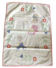 New listing Baby Coverlet And Pillow Case, Vintage, Jack And Jill, Bear