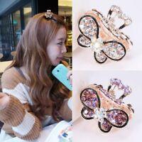 Women Hair Clip Claw Claw Barrette Crystal Rhinestone Mini Butterfly Hairpins