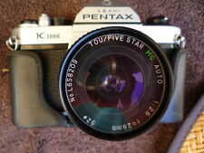 Pentax K1000 35mm SLR Camera w/ 28mm f2.8 Tou/Five Star MC Lens